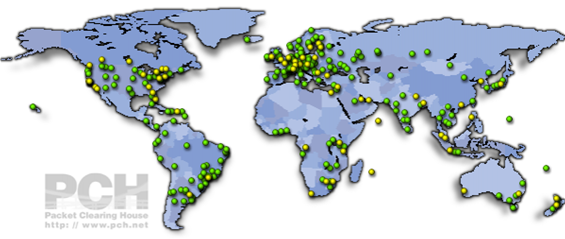 Map of Active IXP